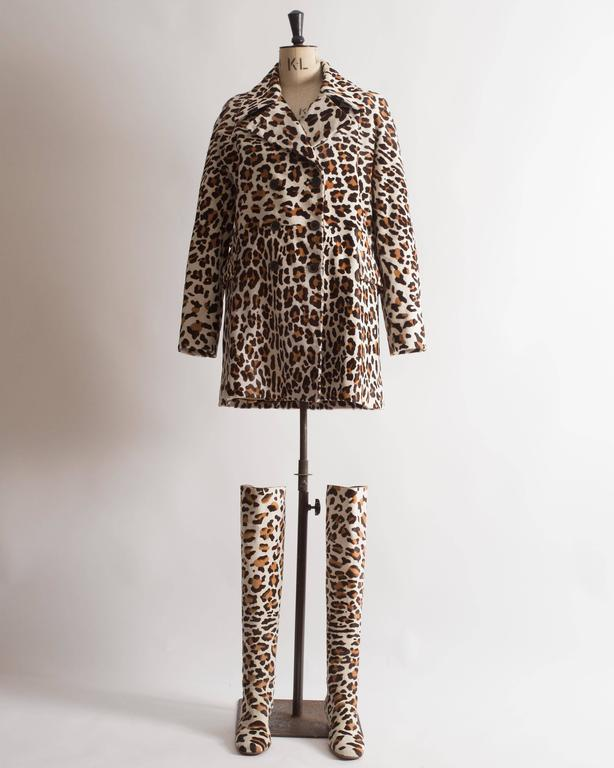 Alaia pony hair leopard print coat and boots ensemble 2