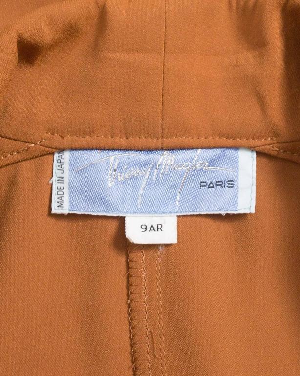 Thierry Mugler mustard gabardine shirt dress, AW 1986 9