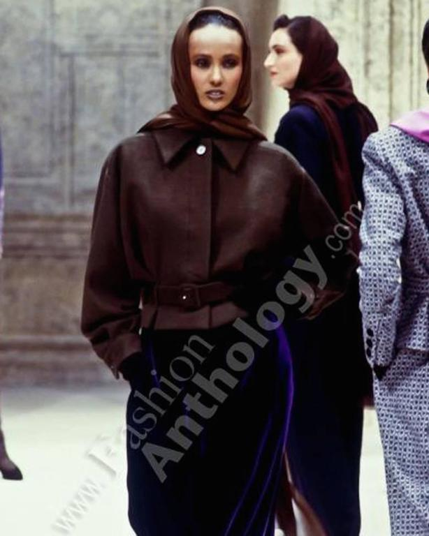 Christian Dior Haute Couture brown cashmere wool jacket, AW 1988 3