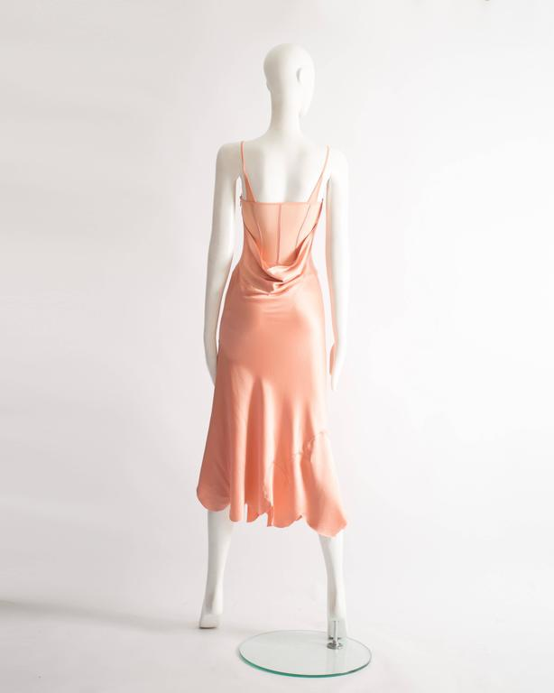 Alexander McQueen bias cut silk lingerie evening dress, Spring-Summer 2004 For Sale 2