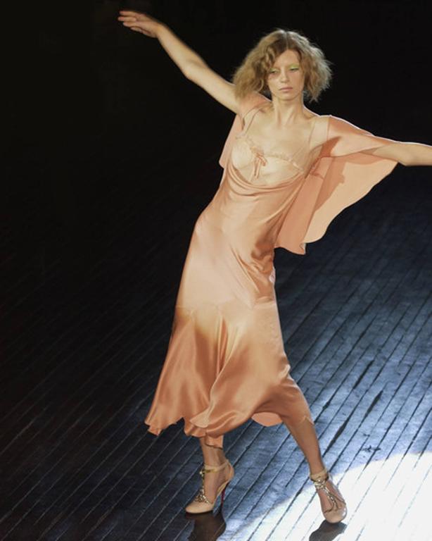 Alexander McQueen bias cut silk lingerie evening dress, Spring-Summer 2004 3