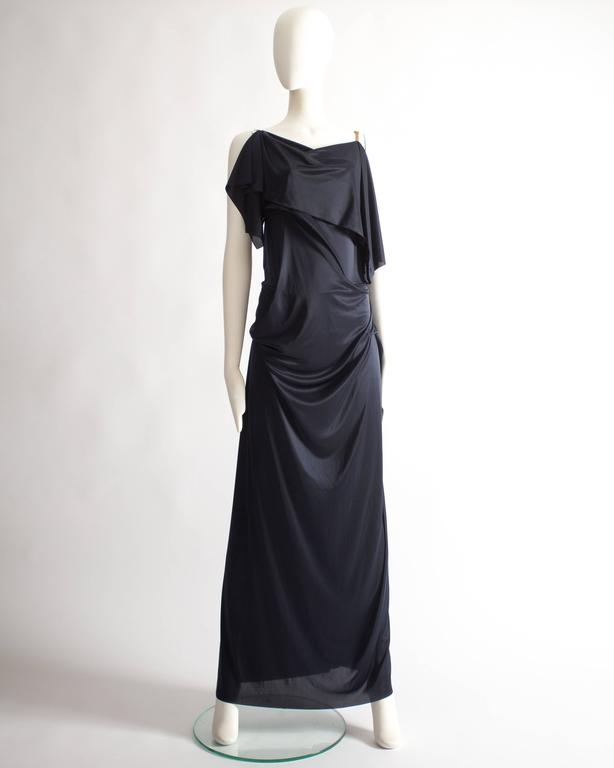 Margiela midnight blue draped evening dress, Spring-Summer 2012 8