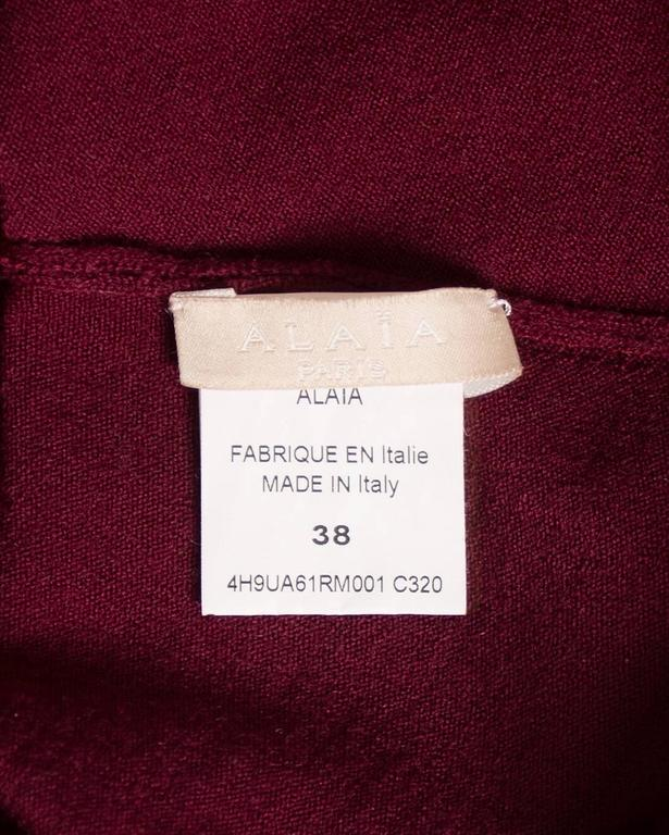 Alaia maroon chenille and wool body and skirt ensemble 8