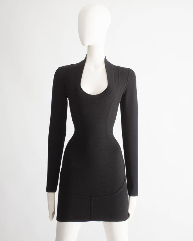 Alaia bodycon wool mini dress, circa 1990s 2