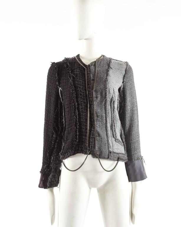 Maison Martin Margiela Autumn-Winter 2005 inverted jacket with metal chains  4