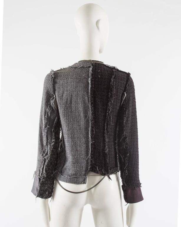 Maison Martin Margiela Autumn-Winter 2005 inverted jacket with metal chains  8