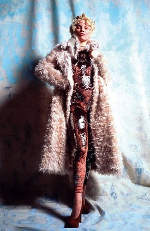 Vivienne Westwood Autumn-Winter 1990 brown screen printed silver jumpsuit 2