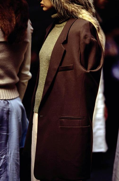 Maison Martin Margiela Autumn-Winter 1997 oversized blazer with inverted sleeves For Sale 3