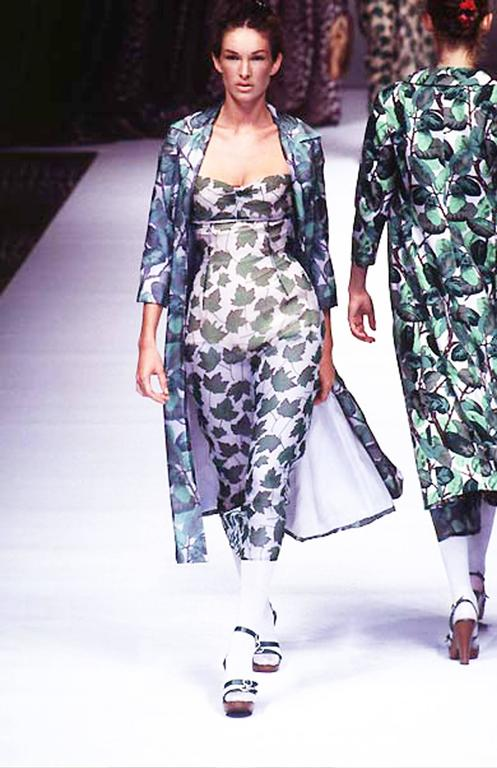 Dolce & Gabbana Spring-Summer 1997 chiffon dress with foliage print 2