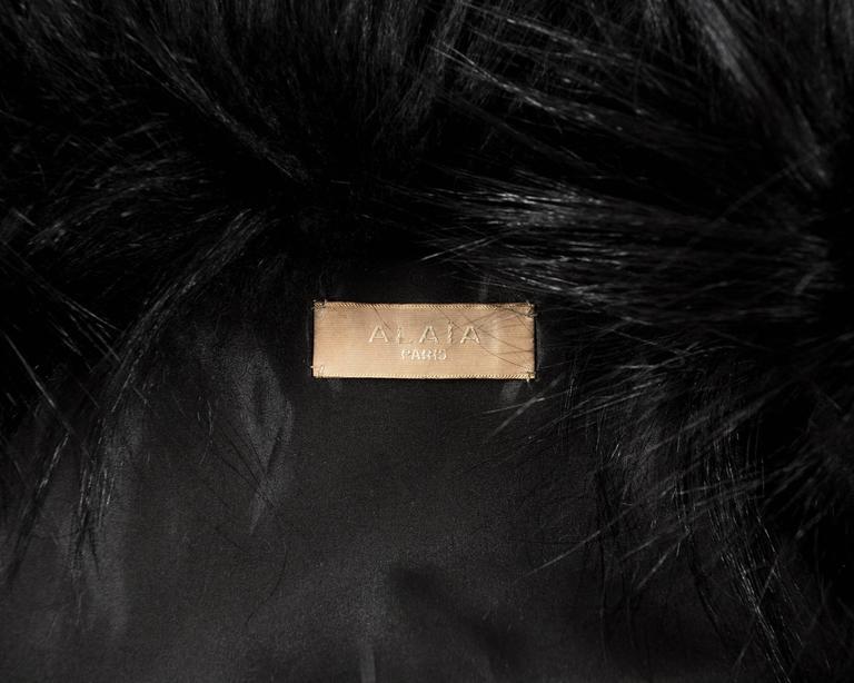 Alaia black goat hair jacket 5