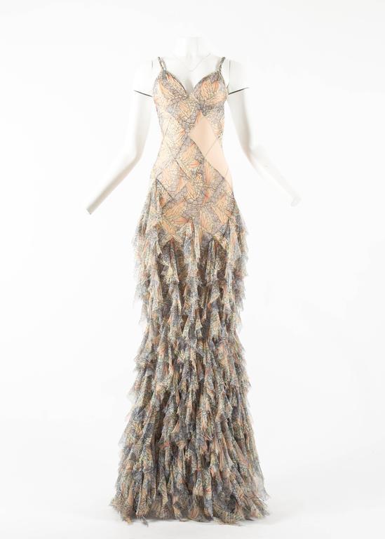 Alexander McQueen Spring-Summer 2004 'Deliverance' silk chiffon evening gown 2