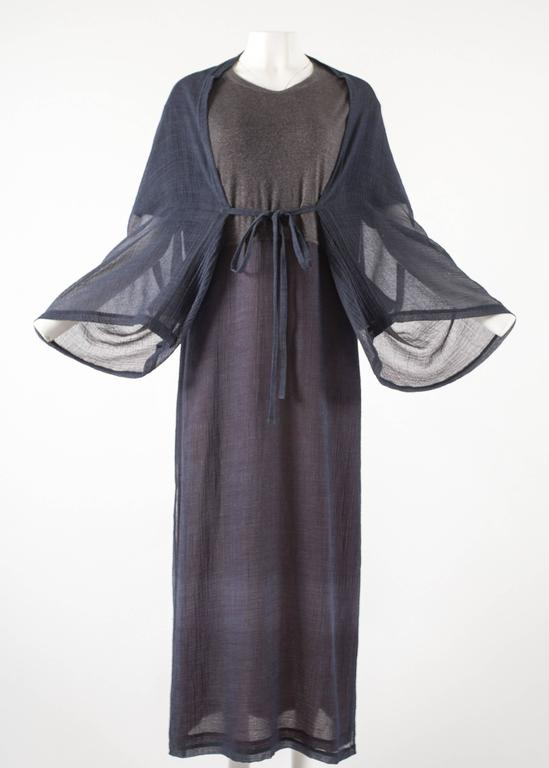 Issey Miyake 1990s layered shirt dress with attached cardigan  2