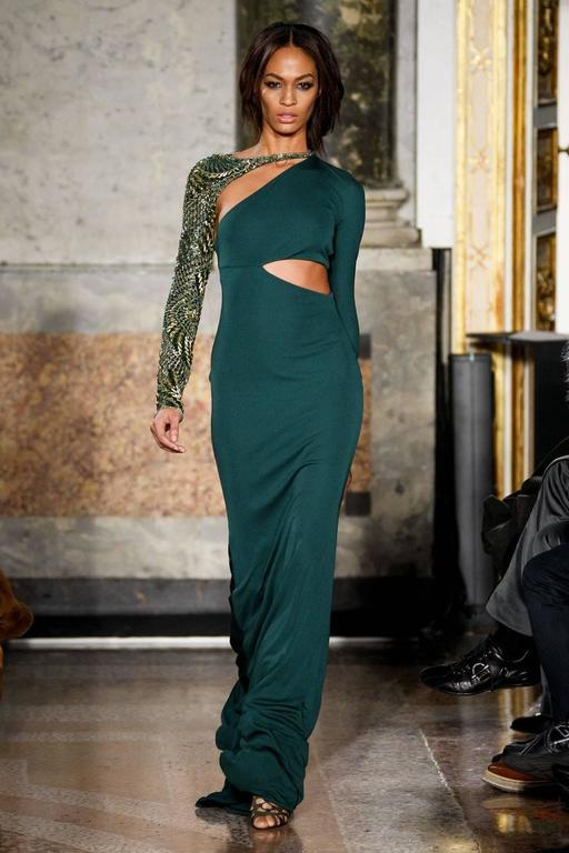 Emilio Pucci Autumn-Winter 2011 emerald green evening gown with ...