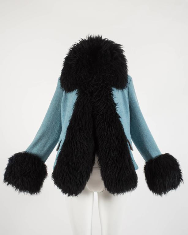 Vivienne Westwood Autumn-Winter 1991 Harris Tweed jacket with sheepskin 2