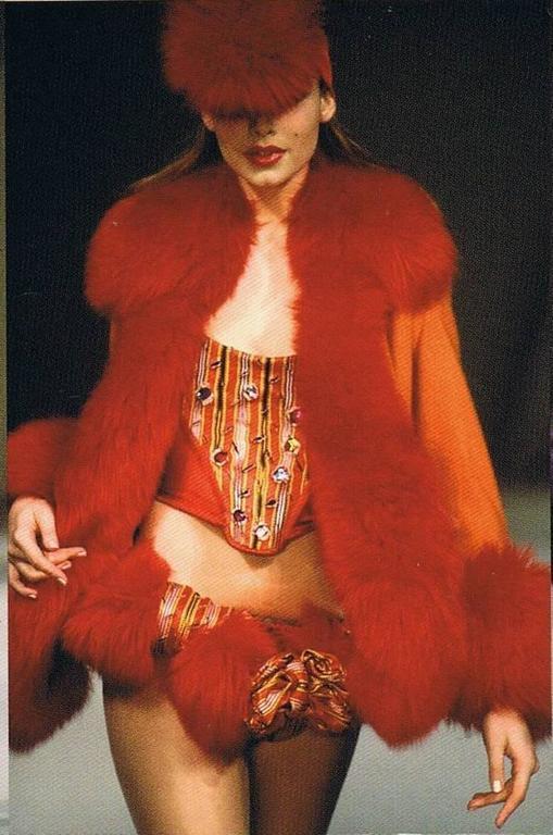 Vivienne Westwood Autumn-Winter 1991 Harris Tweed jacket with sheepskin 3