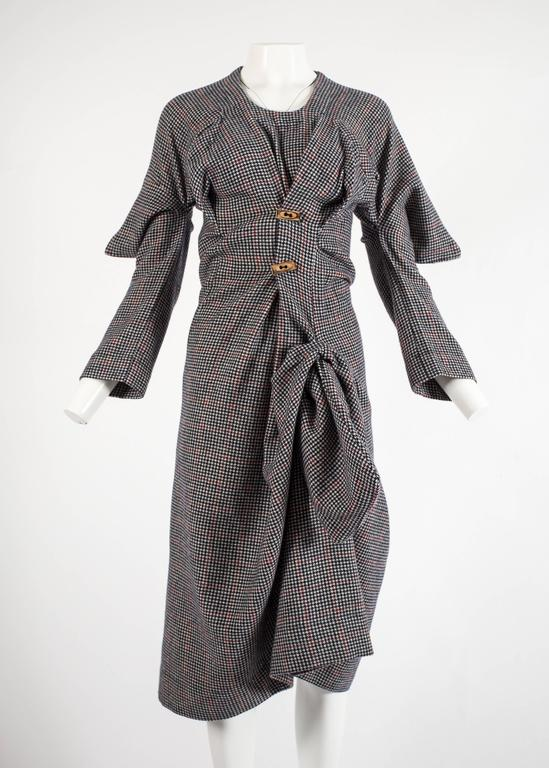 Worlds End Autumn-Winter 1983 'Witches' checked wool dress 2
