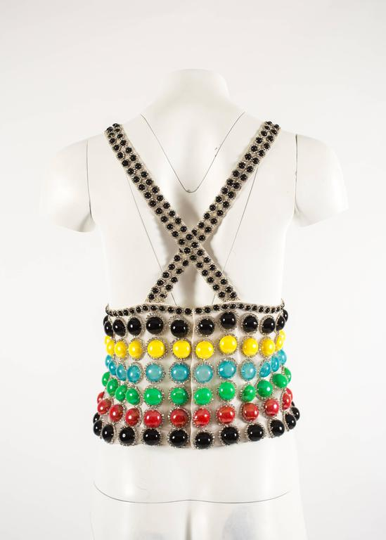 Jeanne Lanvin Spring-Summer 1968 Haute Couture embellished evening vest For Sale 3