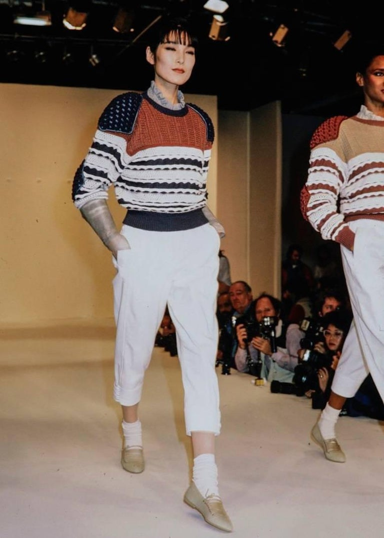 Issey Miyake Spring-Summer 1983 knitted sweater  3