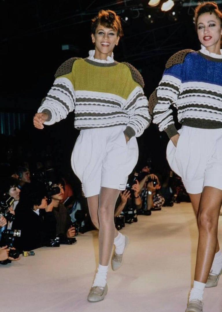 Issey Miyake Spring-Summer 1983 knitted sweater  4