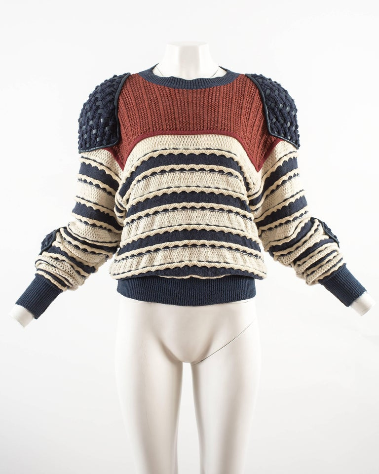 Issey Miyake Spring-Summer 1983 knitted sweater  2