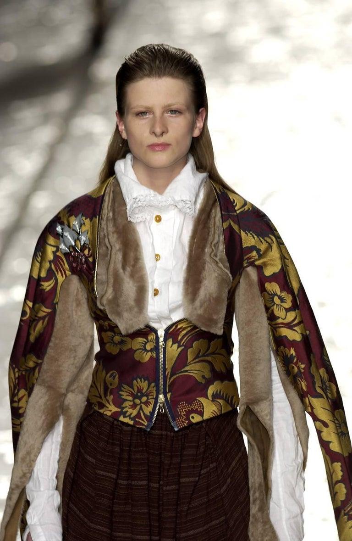 Vivienne Westwood Autumn-Winter 2002 brocade bondage evening jacket  For Sale 3