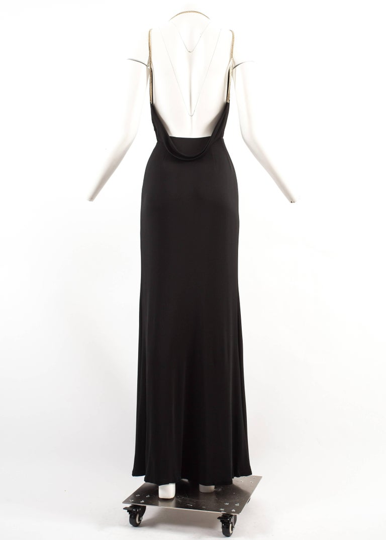 Gucci Autumn-Winter 2006 backless black evening dress with metal ...