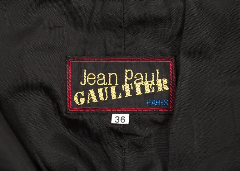 Jean Paul Gaultier Autumn-Winter 1990 black and brown leather biker pants For Sale 2