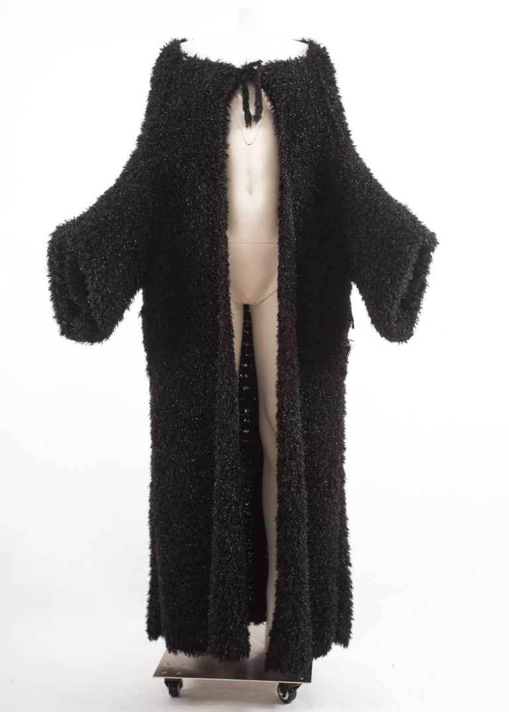 Black Yohji Yamamoto 1990s oversized black evening cardigan  For Sale
