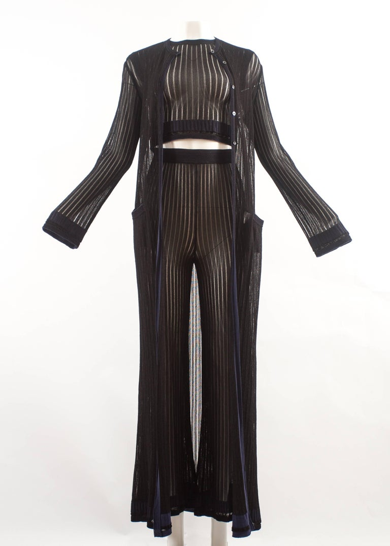 Alaia Spring-Summer 1992 3 piece knitted ensemble