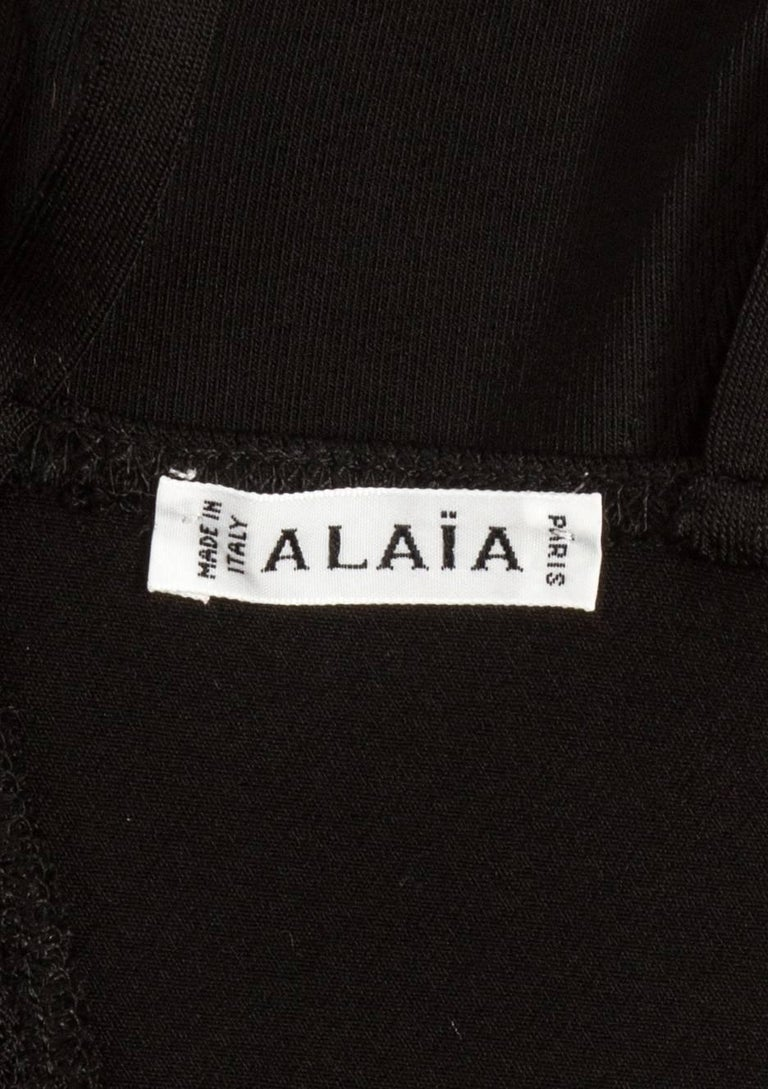 Alaia Spring-Symmer 1990 black bodysuit  For Sale 1