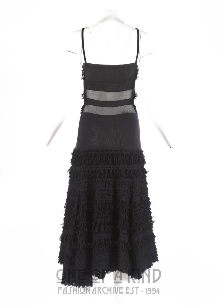 Prada Black Silk Evening Dress Autumn Winter 2001 For