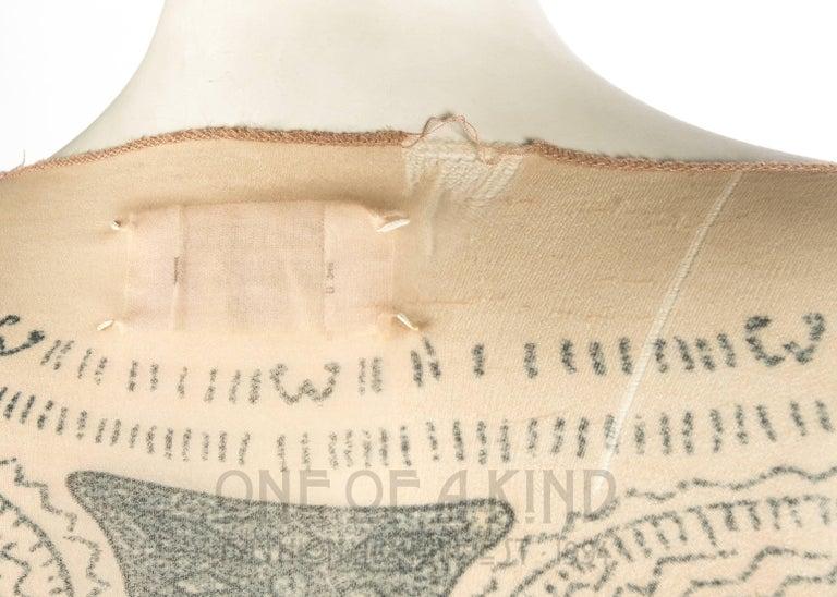 Margiela trompe-l'œil tattoo mesh top, Spring-Summer 1989 4