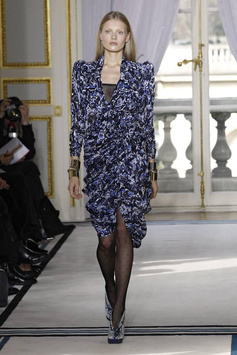 Black Balenciaga by Nicolas Ghesquière rayon jersey cocktail dress, Autumn-Winter 2009 For Sale