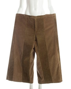 Margiela XXL Oversized pants made from two vintage corduroy pants, ca. 2000-3