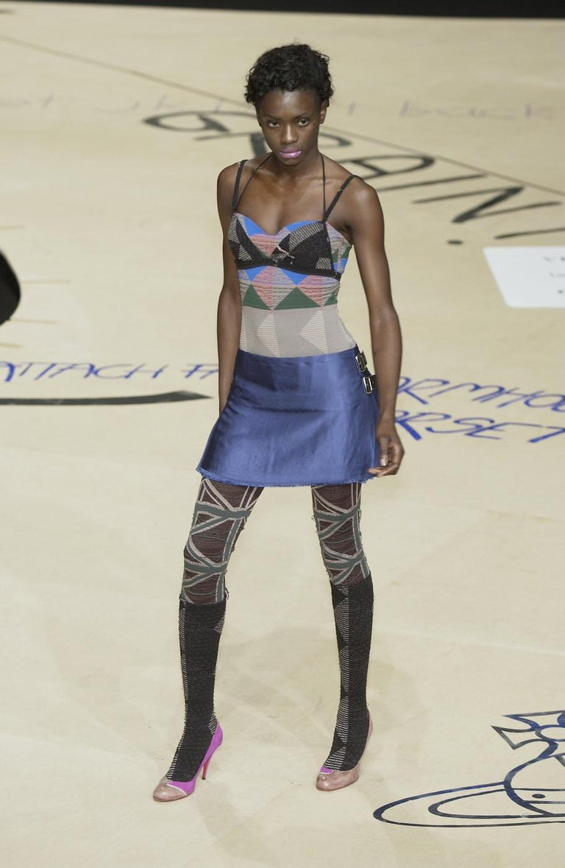 Vivienne Westwood, blue satin pleated wrap mini skirt / kilt, AW 2003 For Sale 1