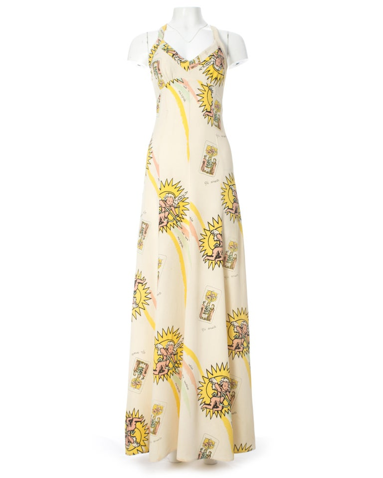Ossie Clark for Quorum, ivory moss crepe maxi dress, c. 1965-9 5