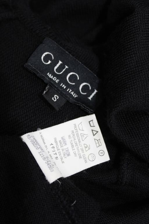 Women's Early Tom Ford for Gucci Black Knitted Full Length Maxi Dress, Fall 1993 For Sale