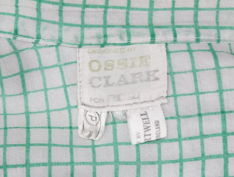 Ossie Clark 'Pretty Woman' peekaboo blouse with print by Celia Birtwell, c. 1972 6