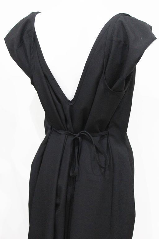 COMME des GARCONS black origami dress c. 1998 5