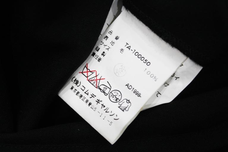 COMME des GARCONS black origami dress c. 1998 6