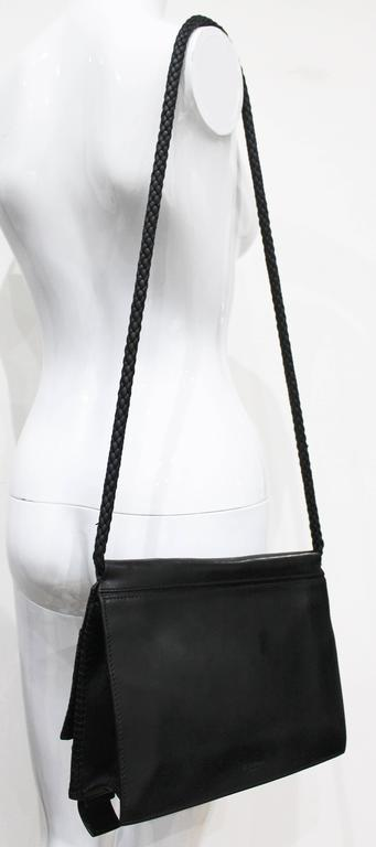 Tom Ford for Yves Saint Laurent runway black calfskin flap bag, Fall 2001 4