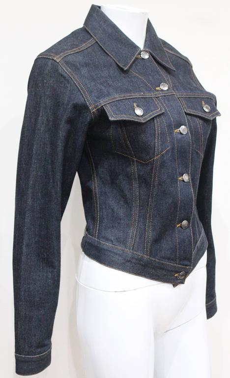 1990s Tom Ford for Gucci denim runway jacket, Spring/Summer 1998 In Excellent Condition For Sale In London, GB