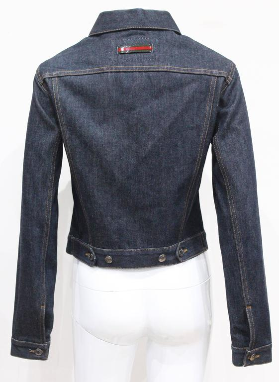 Women's 1990s Tom Ford for Gucci denim runway jacket, Spring/Summer 1998 For Sale