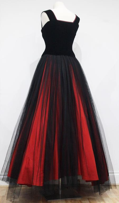 exceptional 1940s jacques fath haute couture evening