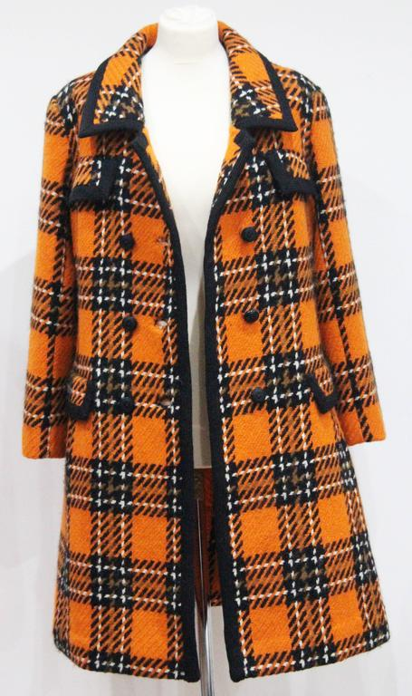 1960s English checked tweed tailored coat by Royal Dressmaker, Hardy Amies  3