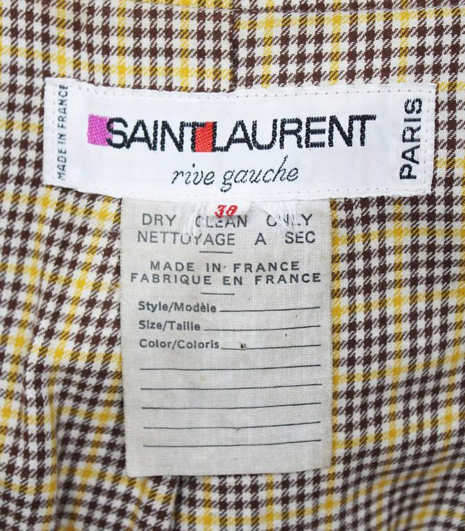 1970s Yves Saint Laurent camel hooded Loden coat, Fall 1975 6