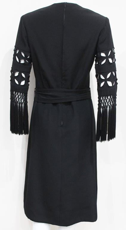 Exceptional 1940s British Couture Black Silk Cocktail Dress by Rahvis 3