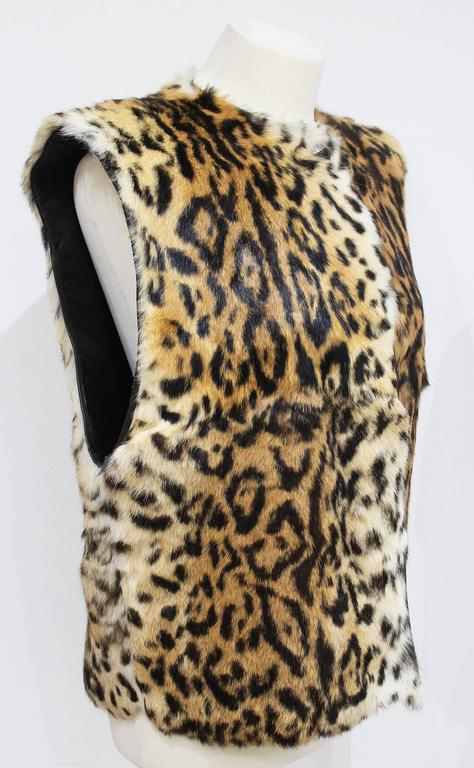 An early Gianni Versace leopard print fur gillet c. 1980s 2