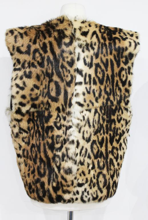 An early Gianni Versace leopard print fur gillet c. 1980s 3