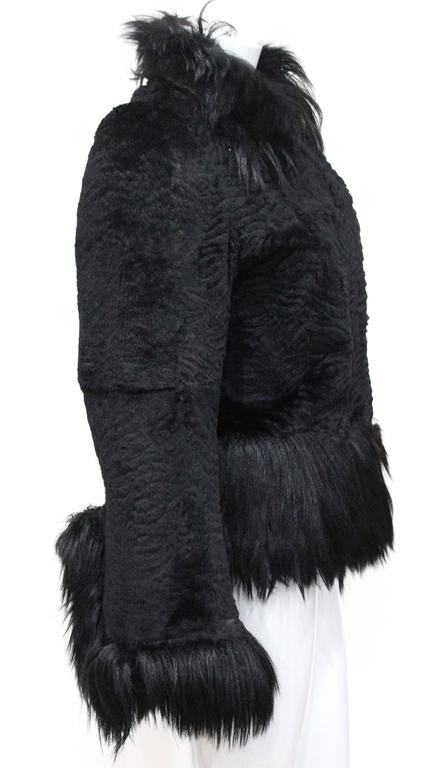 Black Important Early Alexander McQueen fur jacket, 'Eshu' African Collection Fall 200 For Sale